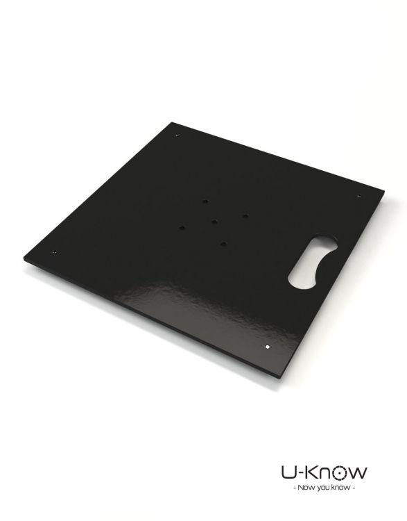 MATP14 Noir Brillant Mono  Plaque acier 10 Kg sans axe de rotation