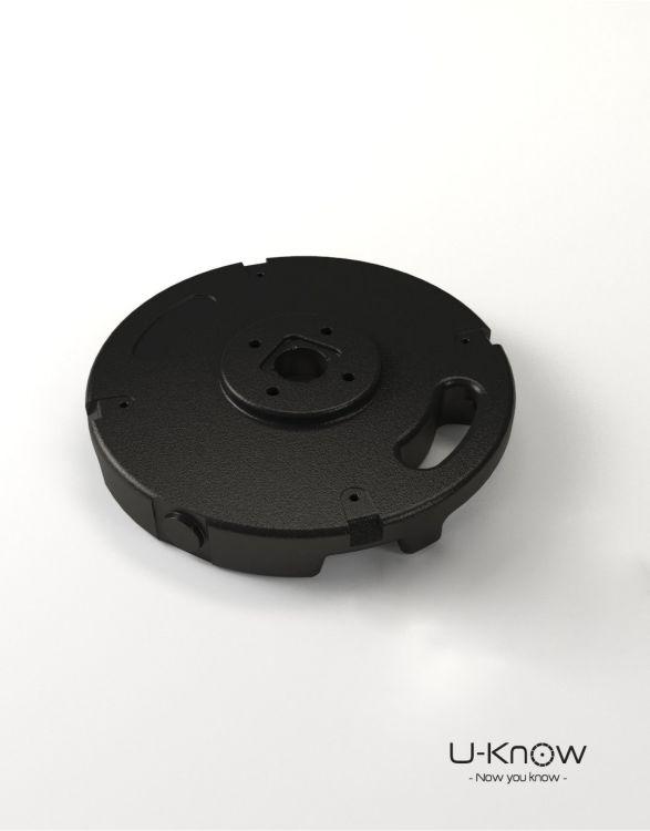 MATP31 NOIR Mono  Socle PVC béton 10 Kg sans axe de rotat°